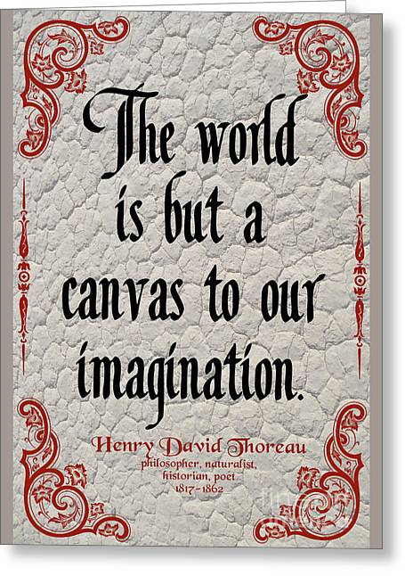 Henry David Thoreau About Imagination Greeting Card by Zalman Latzkovich