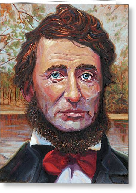 Henry David Thoreau Greeting Card by Steve Simon