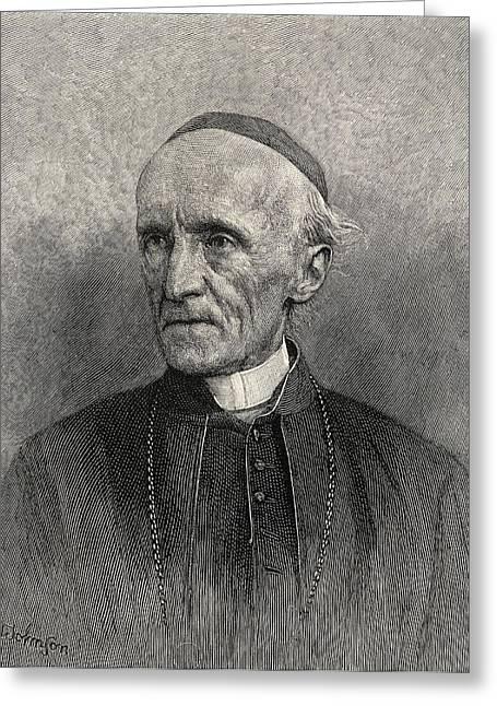 Archbishop Greeting Cards - Henry Edward Manning 1808 - 1892 Greeting Card by Ken Welsh