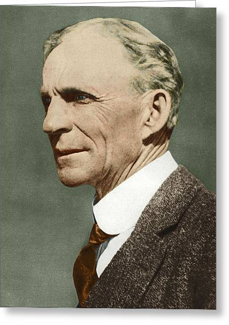 Ford Greeting Cards - Henry Ford, Us Car Manufacturer Greeting Card by Sheila Terry