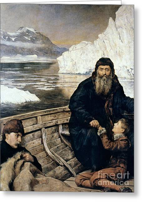 Henry Hudson And Son Greeting Card by Granger