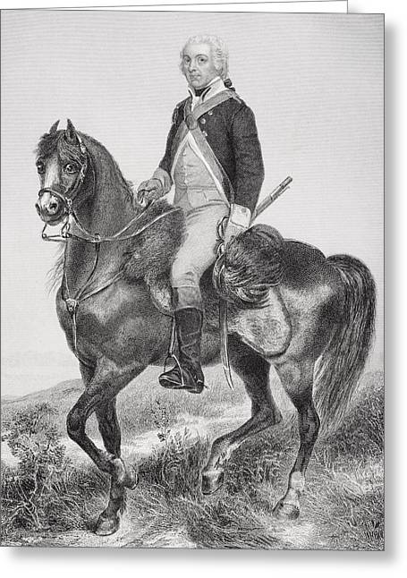 Henry Drawings Greeting Cards - Henry Lee 1756 - 1818. Cavalry Officer Greeting Card by Ken Welsh