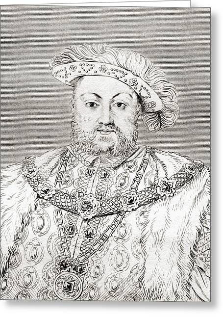 Viii Greeting Cards - Henry Viii, 1491 Greeting Card by Ken Welsh