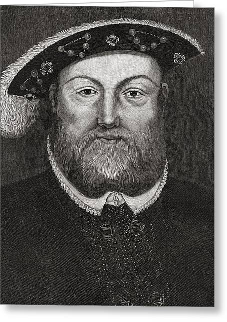 Viii Greeting Cards - Henry Viii, 1491 To 1547. King Of Greeting Card by Ken Welsh