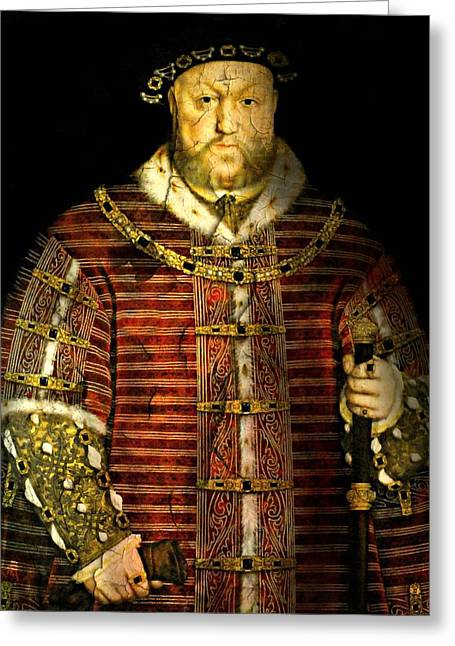 Old Masters Greeting Cards - Henry VIII Greeting Card by Diana Angstadt