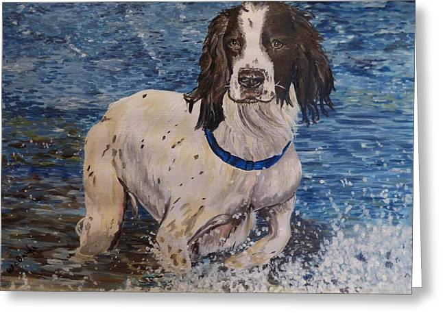 Spaniel Greeting Cards - Henry Greeting Card by Wendy Baughn
