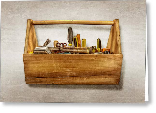 Henry's Toolbox Greeting Card by YoPedro