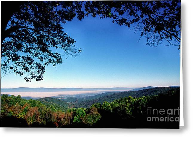 Recently Sold -  - Scenic Drive Greeting Cards - Hensley Hollow Overlook Greeting Card by Thomas R Fletcher