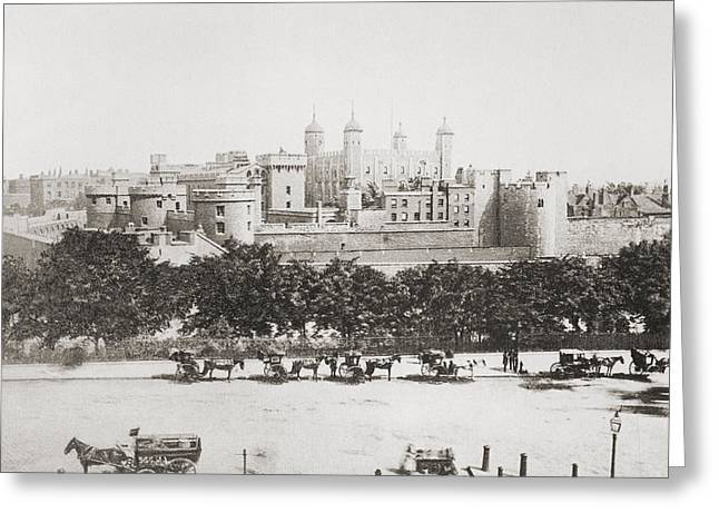 Historic England Drawings Greeting Cards - Her Majesty S Royal Palace And Greeting Card by Ken Welsh