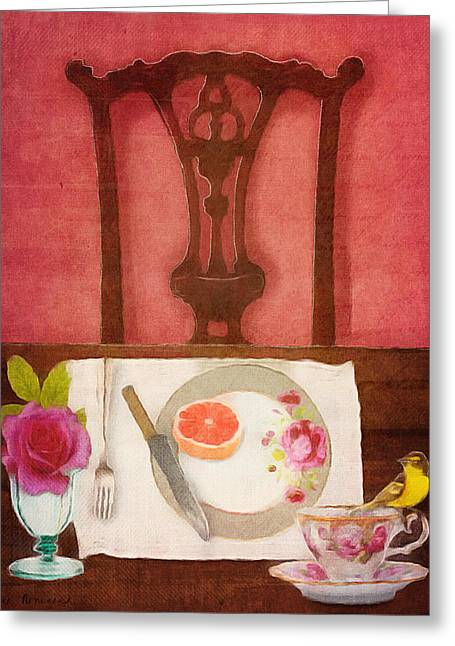 Her Place At The Table Greeting Card by Lisa Noneman