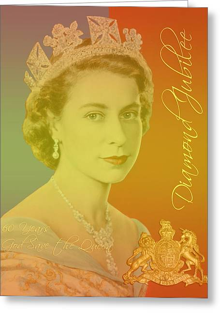 British Royalty Greeting Cards - Her Royal Highness Queen Elizabeth II Greeting Card by Heidi Hermes