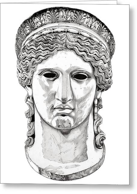 Greek Sculpture Sculptures Greeting Cards - Hera _ V1 Greeting Card by Bruce Algra