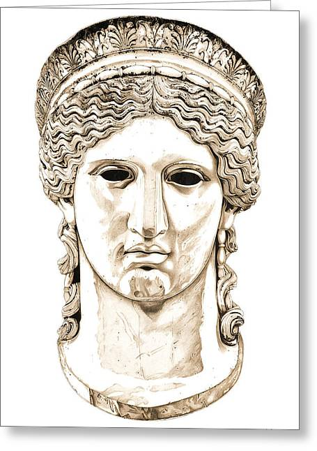 Greek Sculpture Sculptures Greeting Cards - Hera _ V2 Greeting Card by Bruce Algra