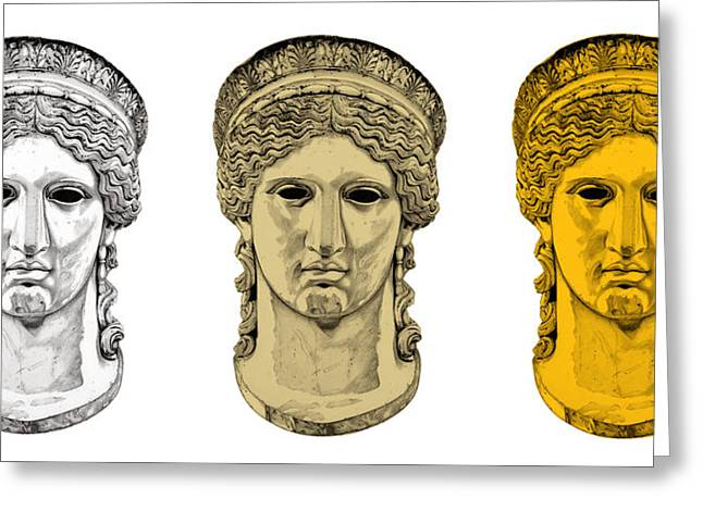 Greek Sculpture Sculptures Greeting Cards - Hera _ V6 Greeting Card by Bruce Algra