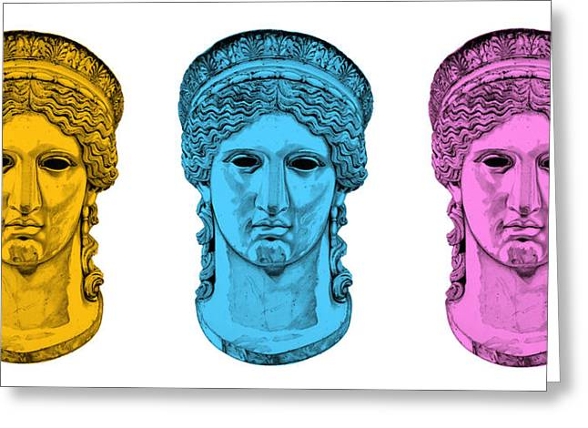 Greek Sculpture Sculptures Greeting Cards - Hera _ V7 Greeting Card by Bruce Algra