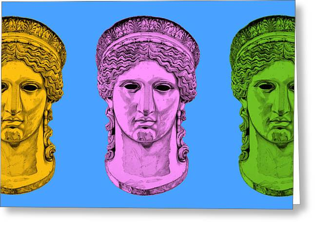 Greek Sculpture Sculptures Greeting Cards - Hera _ V8 Greeting Card by Bruce Algra