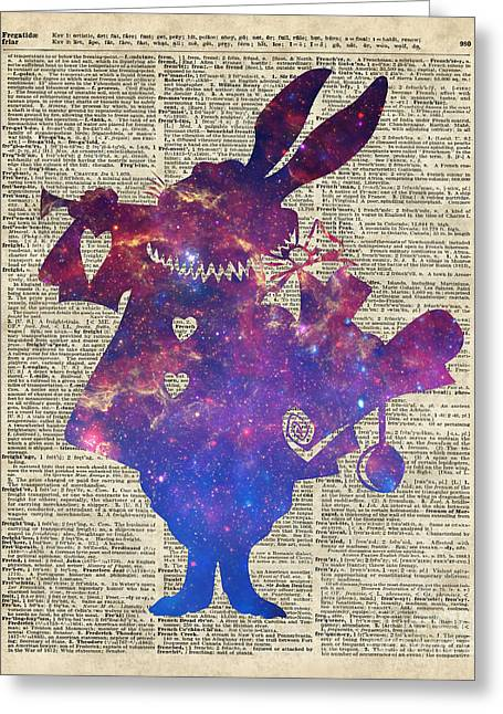 Constellations Drawings Greeting Cards - Herald Purple Rabbit Greeting Card by Jacob Kuch