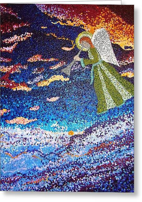 Religious Paintings Greeting Cards - Heralding The Dawn Greeting Card by Sascha Phillips