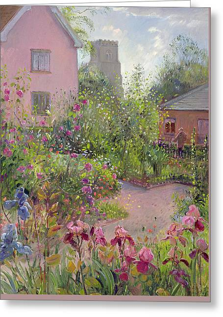 Gardeners Greeting Cards - Herb Garden at Noon Greeting Card by Timothy Easton