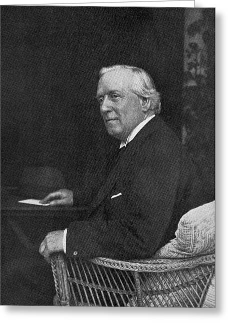 Liberal Drawings Greeting Cards - Herbert Henry Asquith 1st Earl Of Greeting Card by Vintage Design Pics