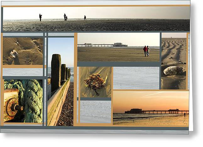 Buildings By The Sea Greeting Cards - Here by the Sea and Sand Greeting Card by Malc McHugh