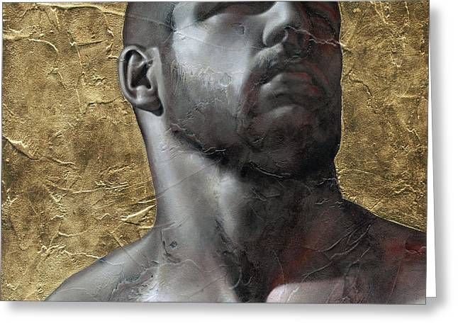 Male Mixed Media Greeting Cards - Here comes the light 5 Greeting Card by Chris  Lopez