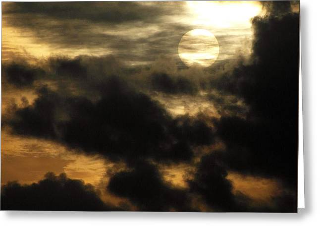 Sun Breaking Through Clouds Photographs Greeting Cards - Here Comes the Sun Greeting Card by Ian Scholan