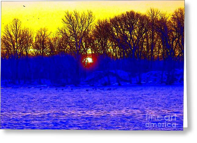 Unique Art Greeting Cards - Here Comes The Sun Greeting Card by Robyn King