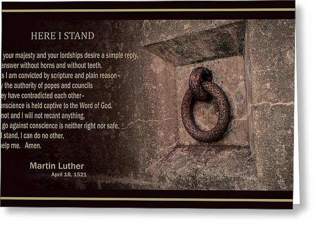 Here I Stand Greeting Card by Troy Stapek