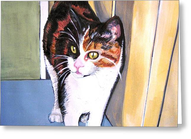 Here Kitty Greeting Cards - Here Kitty Kitty Greeting Card by Ivy Stevens-Gupta