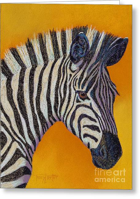 Africa Pastels Greeting Cards - Heres Lookin at You Greeting Card by Tracy L Teeter