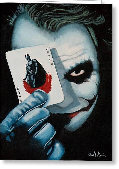 Batman Greeting Cards - Heres my Card Greeting Card by Al  Molina