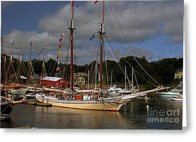 Historic Schooner Greeting Cards - Heritage Greeting Card by Jim Beckwith