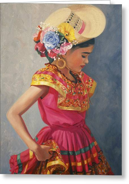 Spanish Greeting Cards - Hermosa Greeting Card by Anna Bain