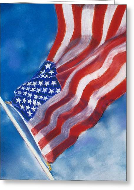 4th July Pastels Greeting Cards - Heroes Greeting Card by Laura Dinoia