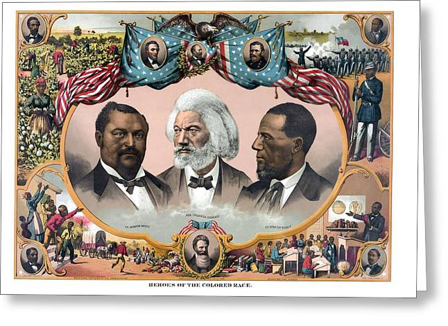 Frederick Douglass Greeting Cards - Heroes Of The Colored Race  Greeting Card by War Is Hell Store