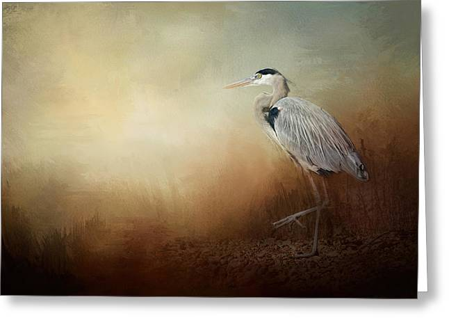 Tennessee River Greeting Cards - Heron At The Inlet Greeting Card by Jai Johnson