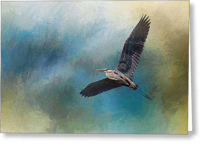Sea Birds Greeting Cards - Heron In The Midst Greeting Card by Jai Johnson