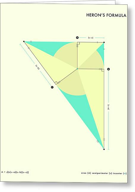 """""""geometric Abstract"""" Greeting Cards - Herons Formula Greeting Card by Jazzberry Blue"""