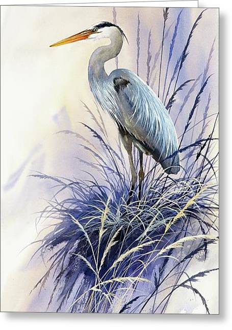 Heron Greeting Card Greeting Cards - Herons Grace Greeting Card by James Williamson