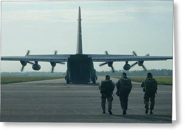 Ac-130 Greeting Cards - Heros walk Greeting Card by Deena Reichel