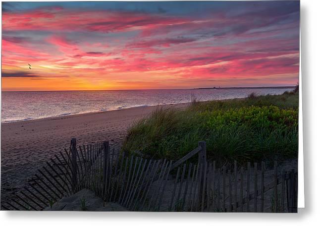 Herring Cove Beach Sunset Greeting Card by Bill Wakeley