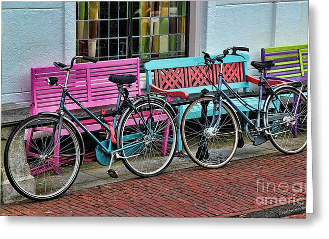 Two Bikes Greeting Cards - Hers and Hers Greeting Card by Jasna Buncic