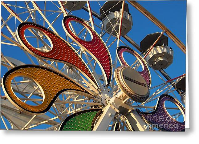 Amusements Greeting Cards - Hershey Ferris Wheel of color Greeting Card by Jennifer Craft