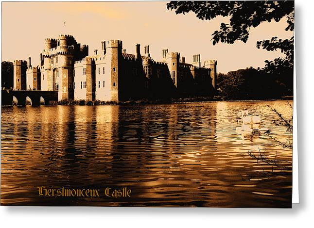 Medieval Tapestries - Textiles Greeting Cards - Herstmonceux Castle Greeting Card by Rui Fernandes