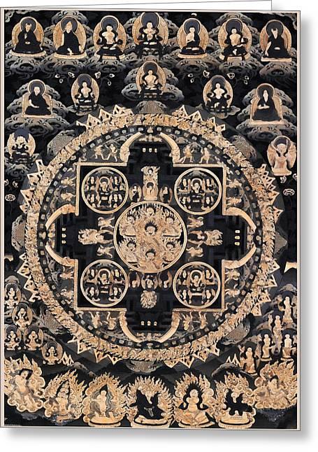 Heruka Yab Yum Mandala Greeting Card by Lanjee Chee