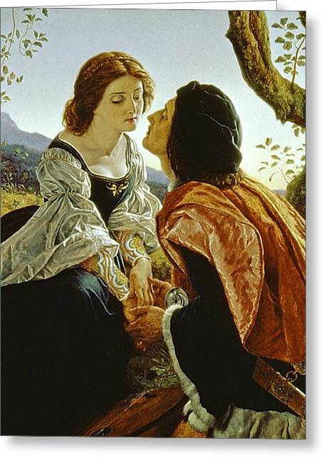 Knelt Paintings Greeting Cards - Hesperus the Evening Star Sacred to Lovers Greeting Card by Sir Joseph Noel Paton