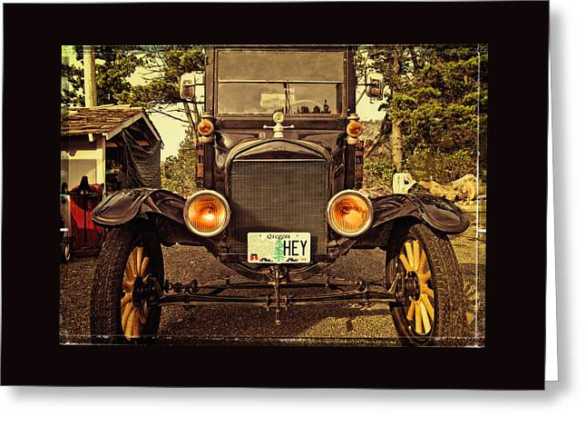 Ford Model T Car Greeting Cards - Hey A Model T Ford Truck Greeting Card by Thom Zehrfeld