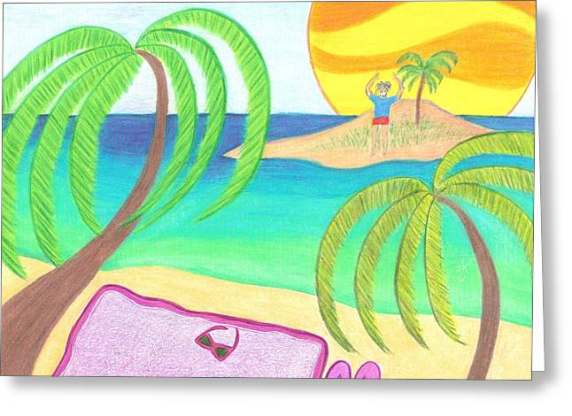 Hey I Am Over Here Greeting Card by Geree McDermott