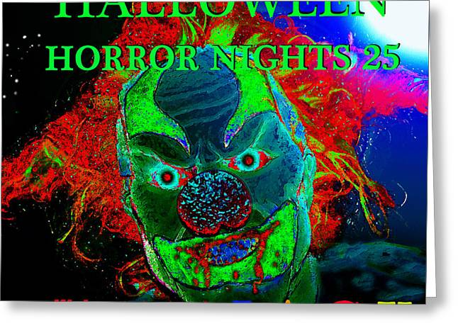 Jack-in-the-box Greeting Cards - HHN 25 poster art A Greeting Card by David Lee Thompson
